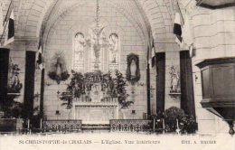 CPA SAINT CHRISTOPHE DE CHALAIS - L'EGLISE - VUE INTERIEURE - Sin Clasificación