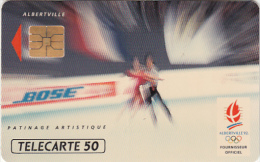 FRANCE - BOSE 6/Patinage Artistique, Albertville 1992 Winter Olympics, 12/91, Used - Jeux Olympiques
