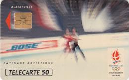 FRANCE - BOSE 6/Patinage Artistique, Albertville 1992 Winter Olympics, 12/91, Used - Juegos Olímpicos