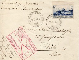 FRANCE TIMBRE N°379 SEUL SUR JOLIE LETTRE AVIATION 1938 - Postmark Collection (Covers)
