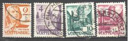 Allemagne Wurtemberg: Yvert N°28/29-33/4°; 4 Valeurs; Oblitérations Concordantes; Voir Scan - Zone Française