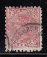 New Zealand Used Scott #67 1sh Queen Victoria - 1855-1907 Colonie Britannique