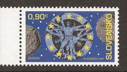"ESLOVAQUIA / SLOVAKIA / SLOWAKEI  - EUROPA 2009 -  TEMA ANUAL ""ASTRONOMIA"" - SERIE De 1 V. - 2009"