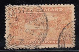New Zealand Used Scott #101 1 1/2p Boer War Contingent Cancel: Christchurch 5 FE 02 - Oblitérés