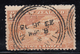 New Zealand Used Scott #101 1 1/2p Boer War Contingent Cancel: Dunedin (?) 23 JE 03 - 1855-1907 Crown Colony