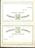 1873 ENTERO POSTAL EDIFIL 6**   IDA Y VUELTA - 1850-1931