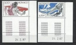 """Monaco YT 1579 Et 1580 """" Jeux Des Petits états D´Europe """" 1987 Neuf** BDF Daté - Monaco"""