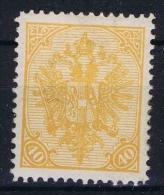 Österreichisch- Bosnien Und Herzegowina  Mi Nr 19 , Yv Nr 19    Perfo 12,50  MH/* Signed - 1850-1918 Imperium