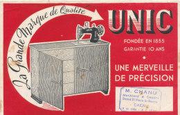 BU 1303 / BUVARD    MACHINE A COUDRE   UNIC  CAEN - M