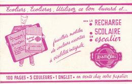 BU 1345 / BUVARD       LA RECHARGE SCOLAIRE   FEUILLES MOBILES - Stationeries (flat Articles)