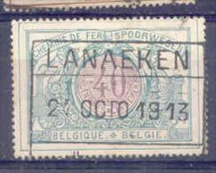 K502 Belgie Spoorwegen Met Stempel LANAEKEN - 1895-1913