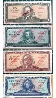 1, 5, 10 & 20 Pesos MUESTRA, 1986-87 Issue, Really Mint UNC Condition, CUBA - Cuba