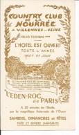 Publicité Villeneuve Sur Seine. Country Club De La Nourrée. - Non Classés