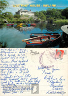 Westport House,  Co Mayo, Ireland postcard posted 1996 stamp