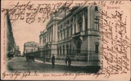 ! 1902 Alte Ansichtskarte Bucuresti, Bukarest, Banca Nationalä, Nationalbank, Romania , Rumänien, Generala, Versicherung - Roumanie