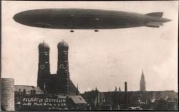 ! Fotokarte, Photo München 6.9.1924 Zeppelin LZ 126 ü.d, Frauenkirche, Luftschiff, Bayern, DIRIGEABLE - Muenchen