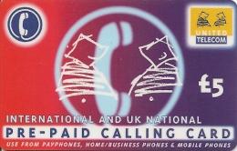 CARTE-PREPAYEE-5£-UNITED TELECOM--TBE- - Royaume-Uni