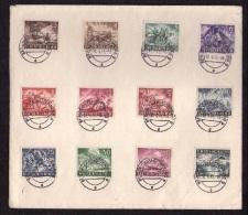 Allemagne - Premier Jours N° 748-759 Berlin Charlottemburgenburg 9 - Le 30 Avril 1943, Petit Défaut Voir Scan (V) - Storia Postale