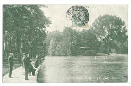 Cp, Pêche, Bois De Boulogne, Le Lac, Voyagée - Pêche
