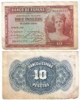 España - Spain 10 Pesetas 1935 Pick 86.a Ref 10 - [ 2] 1931-1936 : République