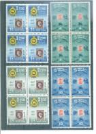 CEYLAN 288/291 (BLOQUES DE 4) 1957 - MICHEL - Sri Lanka (Ceilán) (1948-...)