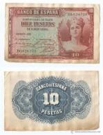 España - Spain 10 Pesetas 1935 Pick 86.a Ref 13 - [ 2] 1931-1936 : République