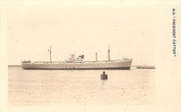 Belgique - M/S President Cattier. Paquete. Navio. Ship. Steamer. Packet-Boat. Paquebot. Cargo. Bateau. Navire. - Commerce
