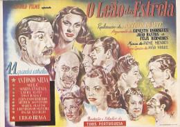 António Silva - Milu - Laura Alves - Filme O Leão Da Estrela De Artur Duarte. Actor. Actriz. Cinema. Teatro. Artista. - Afiches En Tarjetas