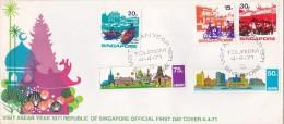 Singapore 1971 Tourism FDC - Singapore (1959-...)