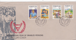 Singapore 1981  International Year Of Disabled Person FDC - Singapore (1959-...)