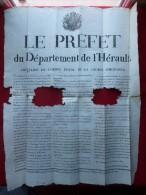 REBELLION ETUDIANTS MEDECINE DE MONTPELLIER CONTRE GENDARMES 1819 - Historische Dokumente