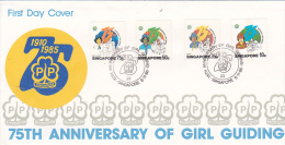 Singapore 1985 75th Anniversary Of Girl Guiding FDC - Singapore (1959-...)