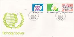 Singapore 1985 International Youth Year FDC - Singapore (1959-...)