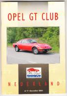 OPEL GT CLUB Nederland Magazine - Nr. 4  December  2004 - Tijdschriften