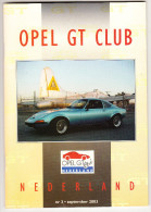 OPEL GT CLUB Nederland Magazine - Nr. 3  September  2003 - Tijdschriften
