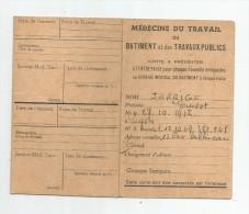 Carte , Médecine Du Travail Du Batiment Et Des Travaux Publics , 1972 , Médecine Du Travail , TOURS , 2 Scans - Ohne Zuordnung