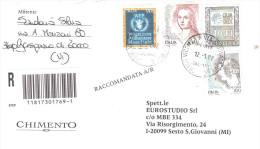 2002 RACCOMANDATA CON AFFRANCATURA MISTA - 2001-10: Poststempel