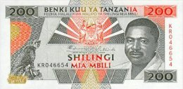 Tanzania 200 Shillings 1993 Pick 25a UNC - Tanzania