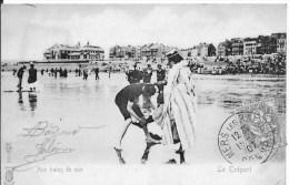 LE TREPORT : Aux Bains De Mer - CPA Postée En 1907 - Le Treport