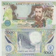 Colombia 5000 Peso 2010 Pick 452 UNC - Colombie