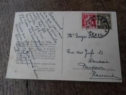 N°339 Et 420 Sur CP(chapelle En Suisse à La Mémoire De La Reine Astrid))-obl UCCLE Du 21/05/1937 Vers Baudour - 1922-1927 Houyoux