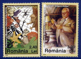 ROMANIA 2008 Antipa Natural History Museum Set Of 2 MNH / **.  Michel 6296-97 - 1948-.... Republics