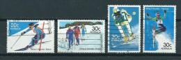 1981 Australia Complete Set Skiing,skiën Used/gebruikt/oblitere - 1980-89 Elizabeth II