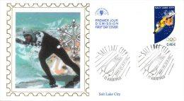 FRANCE. N°3460 De 2002 Sur Enveloppe 1er Jour (FDC). J.O. De Salt Lake City/Snowboard/Patinage/Bobsleigh. - Winter 2002: Salt Lake City
