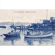 LCRÑTP5764CPA-LFTD10188TCSC.Tarjeta Postal DE CORUÑA.Mar,puerto,barcas,pescadores.muelle Del Pescado En La Coruña - Commercio