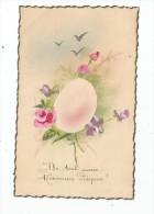 Cp , HEUREUSE PÂQUES , Fleurs , écrite 1951 , Pas D´appellation Carte Postale Au Verso - Pentecôte