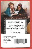 """TESSERA FILATELICA ITALIA - 2011 - Mostra Filatelica """"Quel Magnifico Biennio 1859 -1861"""" - 6. 1946-.. Repubblica"""