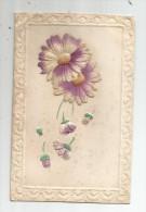 Cp , FLEURS , Tissus , Gaufrée , Voyagée , Union Postale Universelle - Cartes Postales