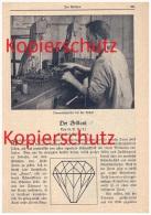 Original Zeitungsbericht - 1926 - Der Brillant , Edelstein , Schmuck , Juwel , Juwelier , Fingerring !!! - Diamant