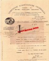 87 - LIMOGES - COMPAGNIE ASSURANCES GENERALES MARITIMES- DELOUIS- GADY- 5BIS- RUE GAL CEREZ-1941 - France